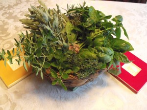 herb basket at halcyon acres